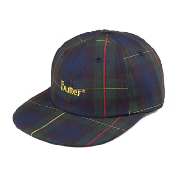 Butter Goods Plaid 6 Panel Cap Navy