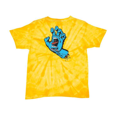 SANTA CRUZ Youth Screaming Hand Tee Spider Gold