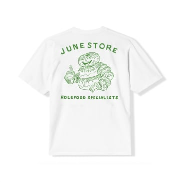 June - Hole Foods Youth Tee - White, Green