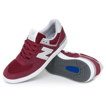 New Balance AM574 Shoes - Burgundy/Grey
