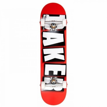 A- Baker Brand Logo Complete (White/Red)- 8.0