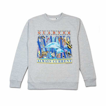 Quartersnacks Always Current Crewneck Sweatshirt - Heather Grey