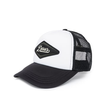 Deus Ex Machina Diamond Trucker Cap - Black/White