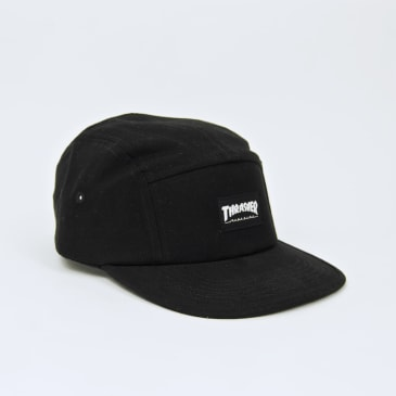 Thrasher - 5 Panel Cap - Black / White