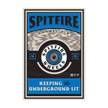 Spitfire OG Circle Blue Lapel Pin