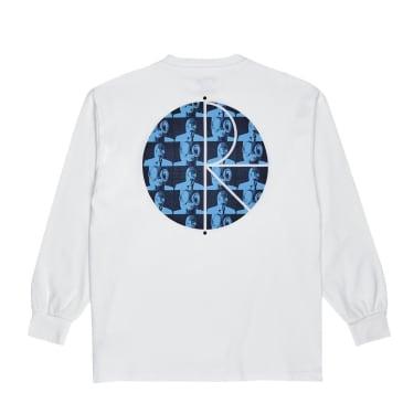 Polar Skate Co Klez Fill Logo Long Sleeve T-Shirt - White