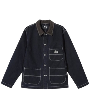 Stüssy Brushed Cotton Moleskin Chore Jacket - Navy