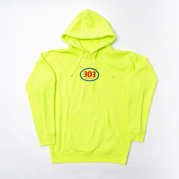 303 Boards - Oval Hoody (Safety Yellow)