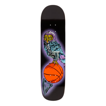Welcome Skateboards Hooter Shooter on Bunyip Mid Skateboard Deck Black - 8.25""
