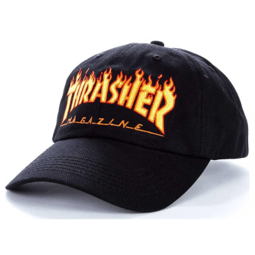 Thrasher - Flame Old Timer Cap - Black