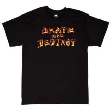Thrasher Skate and Destroy BBQ T-Shirt - Black