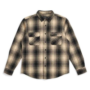 Brixton - BOWERY L/S FLANNEL (Black/cream)