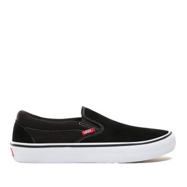 Vans Slip On Pro Skate Shoes - Black / White / Gum