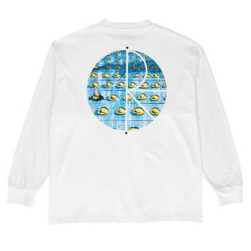 Polar Skate Co. Dragons Nest Fill Logo Longsleeve T-Shirt White