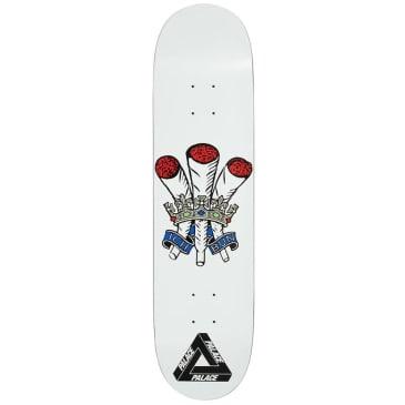"""Palace Skateboards Ich Bun White S22 Skateboard Deck - 8.0"""""""