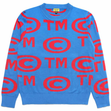 "CHINATOWN MARKET - ""KNIT TRADE MARK SWEATER"" (ROYAL/RED)"