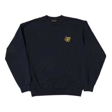 BRONZE EMBROIDERED B LOGO CREWNECK - NAVY