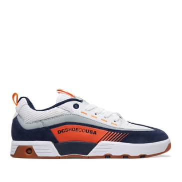 DC Legacy 98 Slim Skate Shoes - Navy / Orange