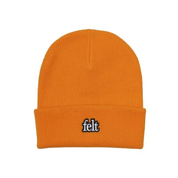 "FELT- ""GAUGE KNIT BEANIE"" (SAFETY ORANGE)"