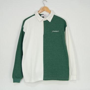Yardsale - Tonic Longsleeve Polo Shirt - Forest / White