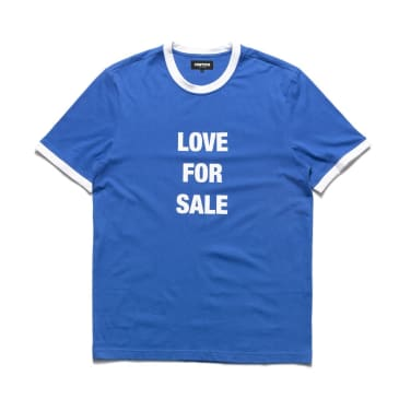 Chrystie NYC Love For Sale Ringer T-Shirt - Blue