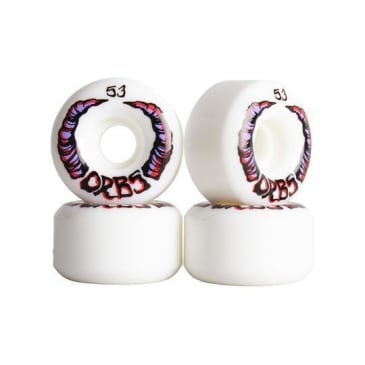 Welcome Skateboards - 53mm Orbs Apparitions 99a Wheels - White