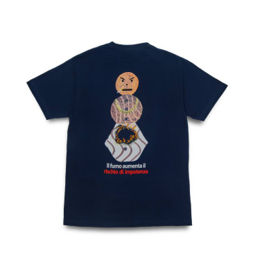 Quartersnacks Smokers Warning Snackman T-Shirt - Navy