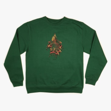 Pass~Port State Horses Sweater - Forest Green