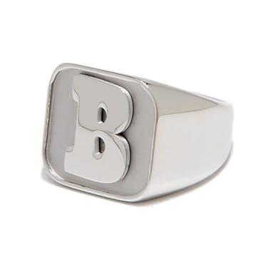 Baker Capital B Silver Ring