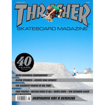 "THRASHER-""DECEMBER JANUARY 21 ISSUE"""