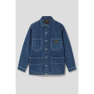 Stan Ray - Lined Barn Coat (Mid Stone Denim)