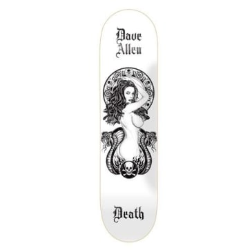 Death Skateboards - Dave Allen White Medusa Deck 8.5""