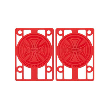 Independent 1/8 Inch Risers, red (set of 2)