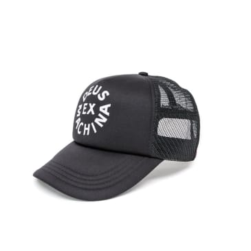 Deus Ex Machina Circle Logo Mesh Cap - Black