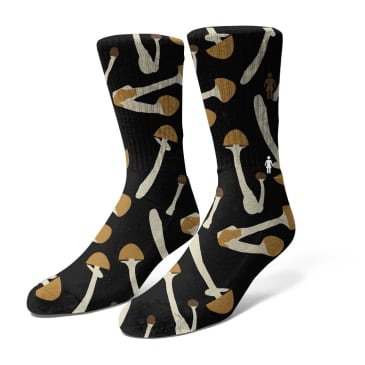 Girl Shroom Socks Black