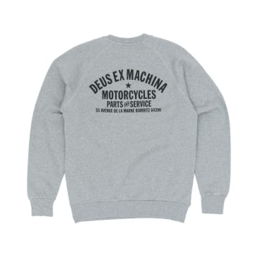 Deus Ex Machina Biarritz Address Crew Sweatshirt - Grey Marle