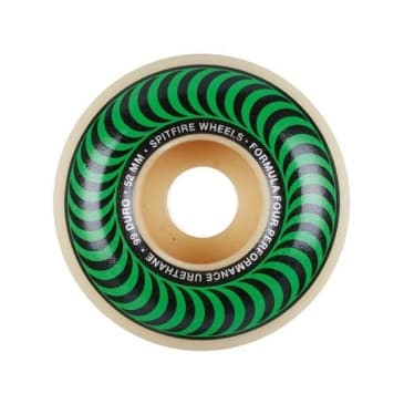 Spitfire - F4 99a Classic Swirl 52mm White/Green Wheels