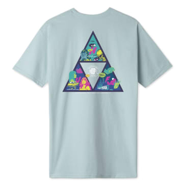 HUF Comics Triple Triangle Tee Cloud Blue