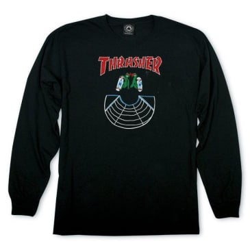 Thrasher Doubles Longsleeve T-Shirt - Black