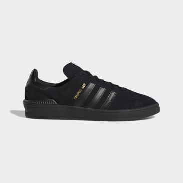 Adidas Campus ADV Shoes - Core Black/FTWR White/Gold Met