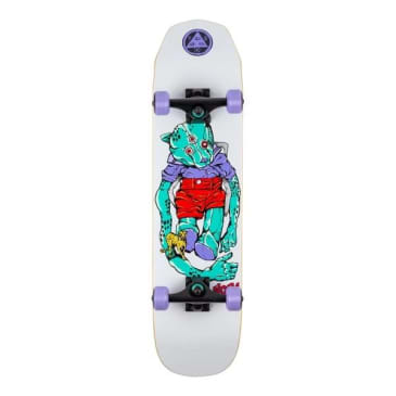 """Welcome skateboards - Teddy Complete on Scaled Down Wicked Princess 7.75"""" (White)"""