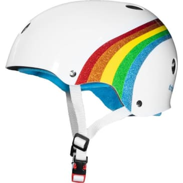 Triple Eight Protective Wear - Triple 8 Certified Sweatsaver White Rainbow Helmet