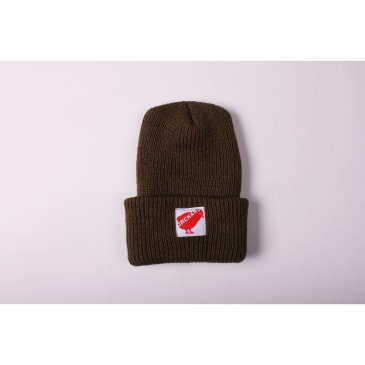 Orchard Beanie 20 Olive Woven Red Bird
