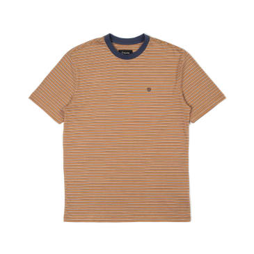 BRIXTON Hilt Knit Tee Coconut/Washed Navy/White