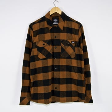 Dickies - Sacramento Flannel Shirt - Brown Duck