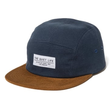The Quiet Life - Cord Combo 5 Panel Camper Hat - Blue