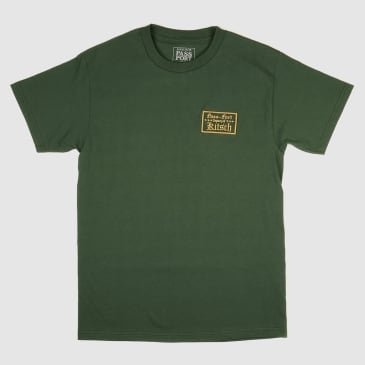 """PASS~PORT """"TREASURY OF KITSCH"""" TEE FOREST GREEN"""