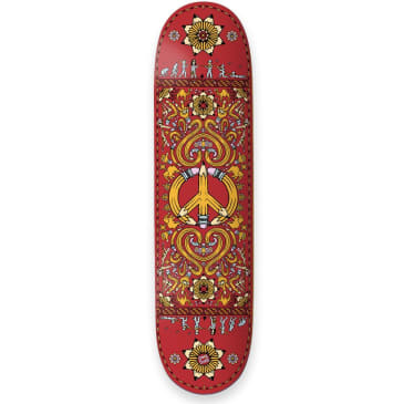 "The Drawing Boards - 8.25"" Peace Skateboard Deck (Red)"