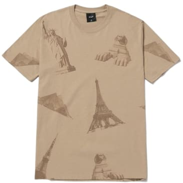 HUF Landmarks T-Shirt - Sand