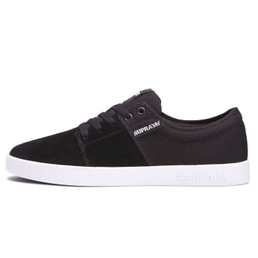 Supra Stacks II Shoes - Black/Black/White